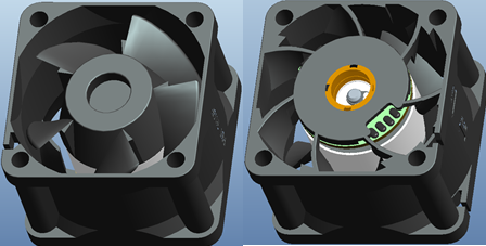 Globefan 4028 (40x40x28mm) DC axial fan